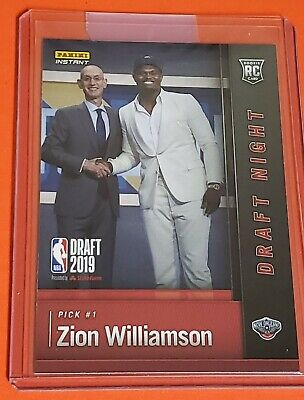 Zion Williamson Rookie Card 2019 Panini Instant In Hand Ebay