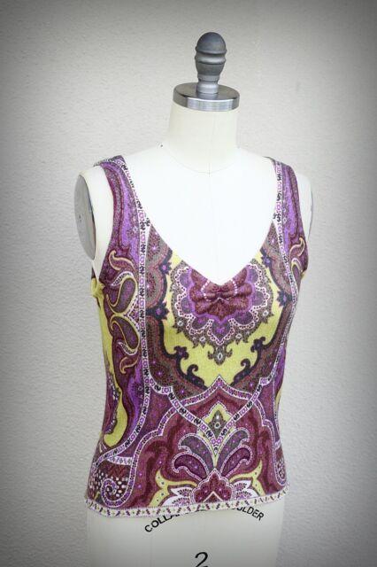 ANNE DARLENE Size S (Short) 100% Cashmere Detailed Design Deconstructed Top USA