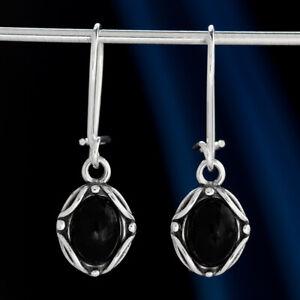 Onyx-Silber-925-Ohrringe-Damen-Schmuck-Sterlingsilber-H0534