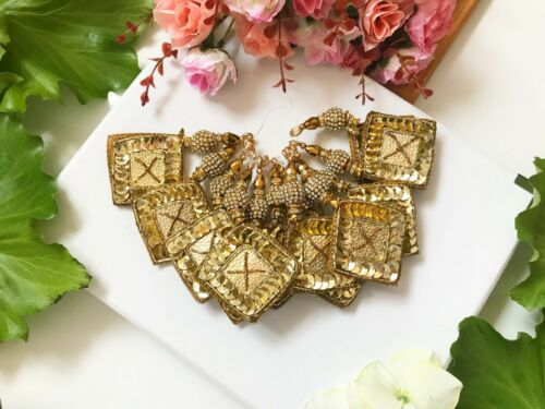 1 Pair Latest Designer Indian Gota  Sequin Zircon Latkan Decoration blouse