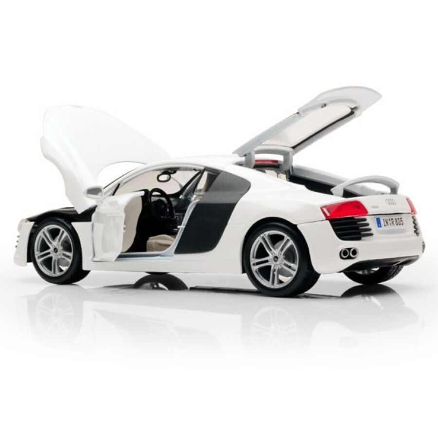 AUDI R8 WHITE 2008 HARD TOP MAISTO 1 18 PREMIERE EDITION SCALE 1 18 WEISS white