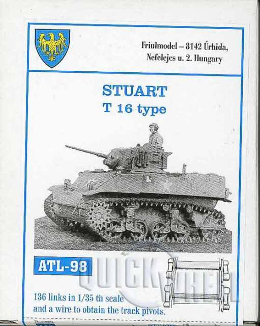 1/35 ATL98 FREESHIP FriulModel Metal Workable Tracks (t 16 Type) for Stuart