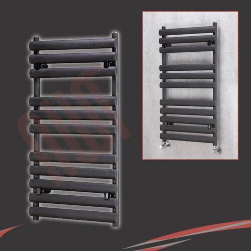 "Black /& White Heated Towel Rails Bathroom Radiators /""Brecon/"" Designer Chrome"