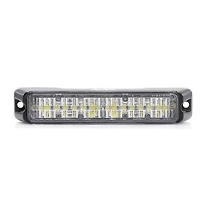 Flex 36W Amber/White 12 LED Grille Light Head Strobe ATV UTV Snow Plow Trucks