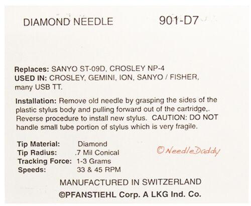 Pyle Pro PLTTB3U LP TURNTABLE NEEDLE  FOR Pyle Pro PLTTB1 Pyle Pro PTT2BU
