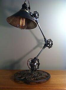 ... Vintage Industrial Desk Lamp Machine Age Task Light
