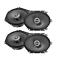 "2Pairs Infinity PR8602cf 6/""x 8/"" 5/""x 7/"" 2-Way Speakers 180W W// Speaker Harness"