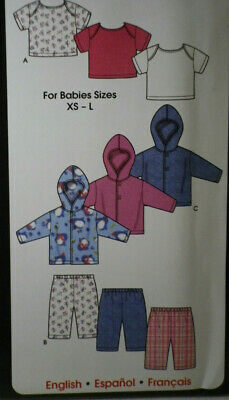 MAKE BABY BOY SHIRT~SHORTS~PANTS~VEST~TIE SEWING PATTERN SIZE NEWBORN~24 LBS!