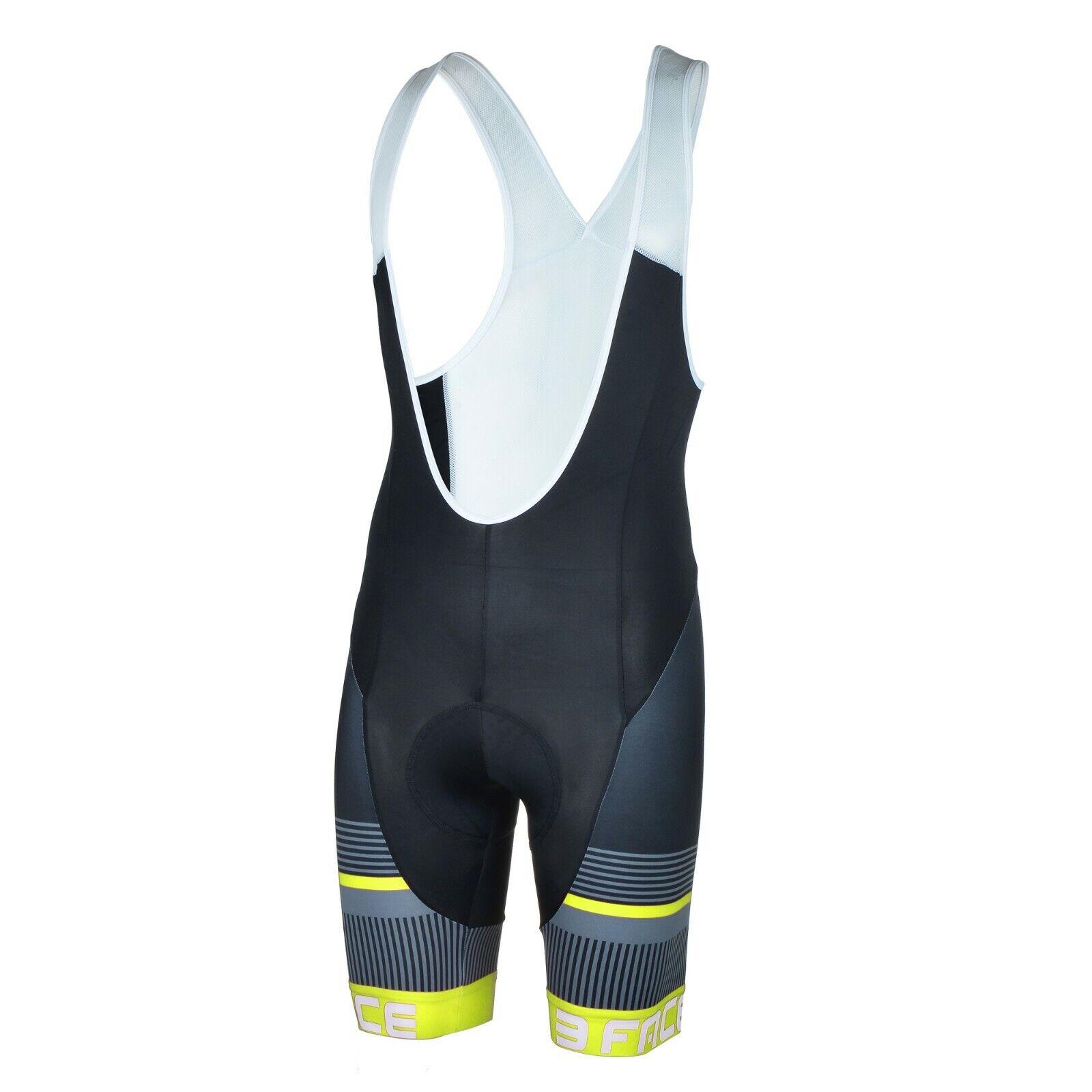 Pantaloncino corto con bretelle estivo salopette ciclismo bici giallo fluo Deal