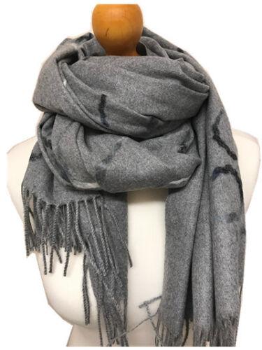 Woman Warm Soft Rope String Print Fringed 100/% Cashmere Scarf Shawl Wrap
