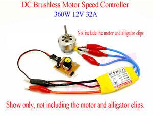 DC12V 30A High-Power Brushless Motor Speed Controller DC 3-phase Regulator PWM