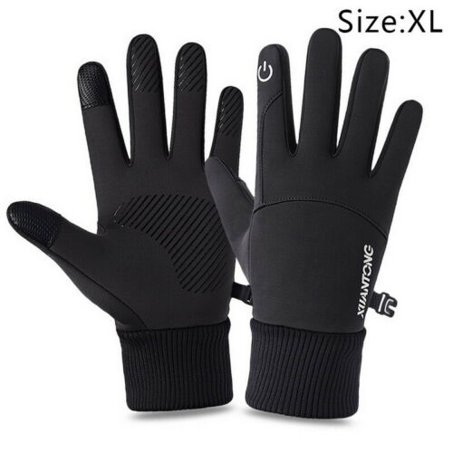 Details about  /Mens Winter Warm Windproof Waterproof Fleece Lined Thermal Touch Screen Gloves F