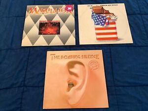 3 Prog Rock Vinyl LP Lot Marillion PFM Chocolate Kings Manfred Mann Earth Band
