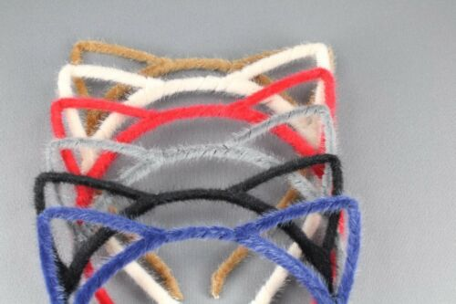 Black cat ears headband furry kitten hair band accessory cosplay cats ear