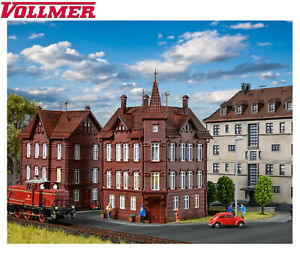 Vollmer-H0-43807-Railroad-House-Corner-House-New-Boxed