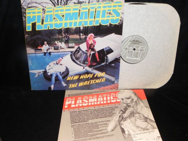 PLASMATICS NEW HOPE FOR THE WRETCHED STIFF AMERICA RECORDS WITH INSERT