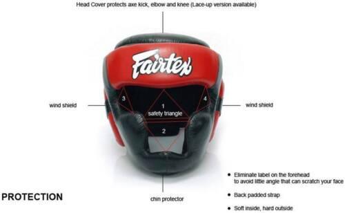 FAIRTEX HEADGUARD HG13 DIAGONAL VISION LACE-UP HEAD MUAY THAI KICK BOXING NEW