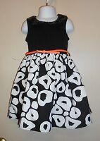 Pinky Girls Bling Sequin Collar Dress + Patent Belt Black & White Six (6)