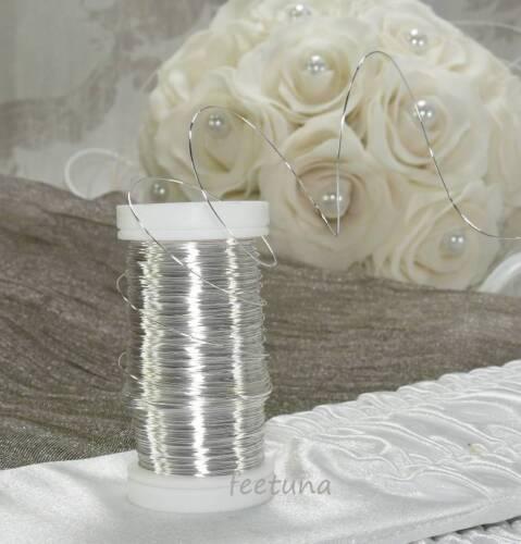 0,10 €//m Silberdraht Dekodraht  Myrtendraht  Kupferdraht silber 10m Draht
