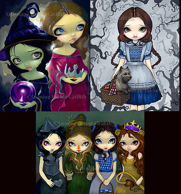 Jasmine Becket-Griffith dorothy witch SIGNED Wizard of Oz 3 BIG art prints set
