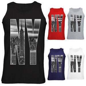 Mens-New-York-City-Skyline-Photo-NY-Letters-Vest-Tank-Top-S-XXL