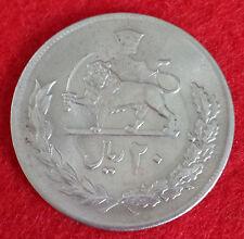 ***20 Rials Iran Persian Shah Uncirculated UNC Vintage 1975(1354) Big Coin***