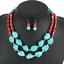 Fashion-Jewelry-Crystal-Choker-Chunky-Statement-Bib-Pendant-Women-Necklace-Chain miniature 64