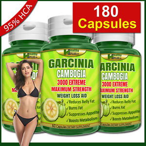 180-Capsules-GARCINIA-CAMBOGIA-95-HCA-Burn-Belly-Fat-Weight-Loss-Less-Appetite