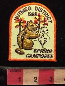 Vtg-1985-NUTMEG-DISTRICT-SPRING-CAMPOREE-BSA-Boy-Scouts-Patch-70V7