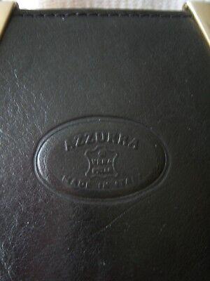 Vintage echt LEDER Tasche Bag schwarz von AZZURRA