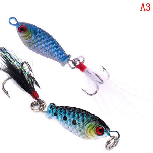 Mini iron Minnow Fishing Lures Bass Crankbait 4#Hooks Tackle Crank Baits Hc