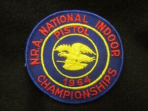 Vtg National Rifle Association NRA NATIONAL INDOOR CHAMPIONSHIPS Gun Patch 06TR