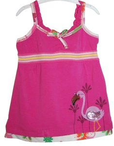 Girls Gorgeous Top T-shirt Sleeveless Frilly Bright Pink Age 2 3 4 5 6 years