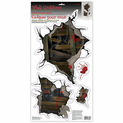 Halloween Horror Mirror Glass Grabber Foggy Fiend Sticker Party Decoration