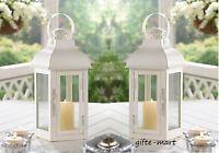 10 Matte White 13 Candle Holder Lantern Lamp Light Wedding Table Centerpiece L