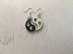 Yin-Yang-Ying-Drop-Dangle-Earrings-Yoga-Buddhist-Meditation-Om-OHM