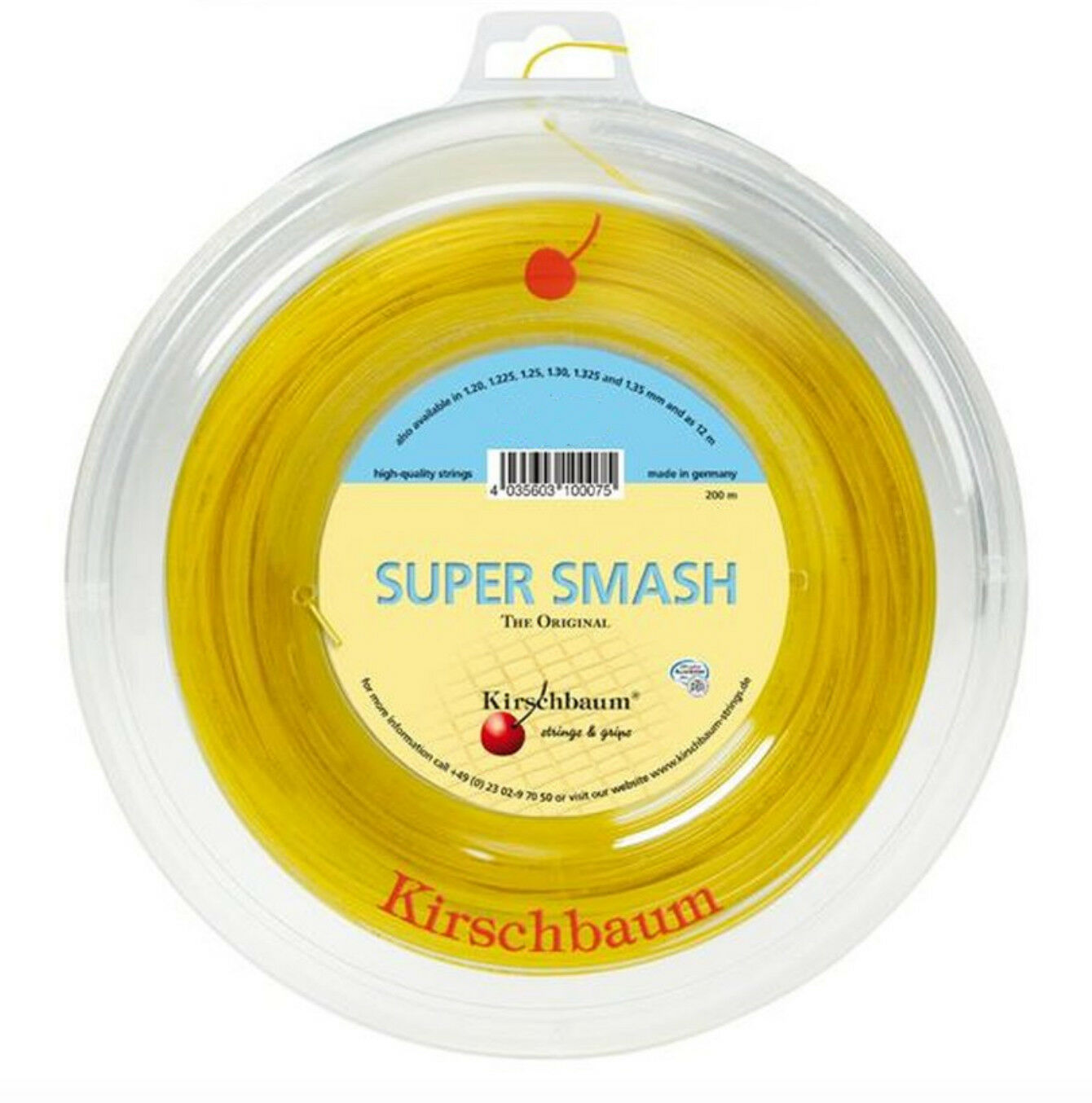 ( m) Kirschbaum Super Smash 1,275 mm 200 m Tennis Saiten Strings