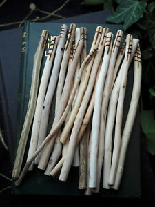 Long Celtic Ogham Staves made on corresponding woods - Pagan, Wicca, Runes
