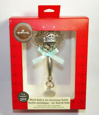 First Christmas Rattle with Pink Ribbon Christmas Ornaments Girl Pink Hallmark Premium 2019 Babys