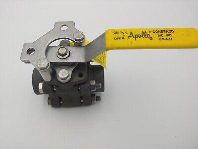 "Apollo 3-Piece Ball Valve W//Locking Handle 3//4/"" FNPT 83B-144-01 New"