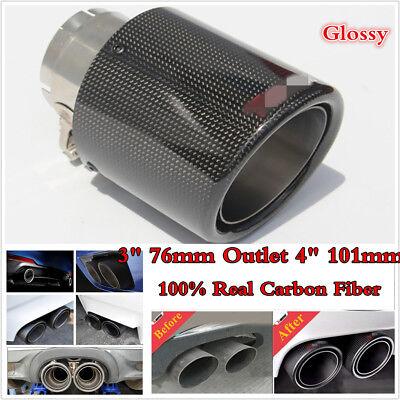 100/% Real Carbon Fiber Mattle Exhaust Tips Muffler Car Exhaust Muffler Pipe