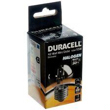 10x Duracell 42w es E27 Rosca Edison halógena de ahorro de energía Pelota De Golf Bombilla de luz