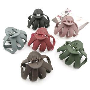 Geometric-Frosted-Hair-Claws-Crab-Plastic-Hair-Clip-Barrettes-Hair-Accessories