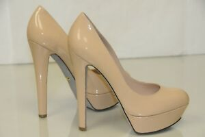 577376c68447  975 New Sergio Rossi MILADY Beige NUDE Leather Platform Pumps Shoes ...