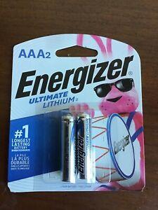 AAA2 Energizer Ultimate Lithium 2 Pack, Fresh sealed Expire 12-2040