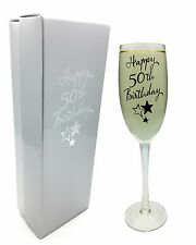 Feliz 50 Aniversario Champagne Flauta / Cristal por Juliana En Caja De Regalo g31850