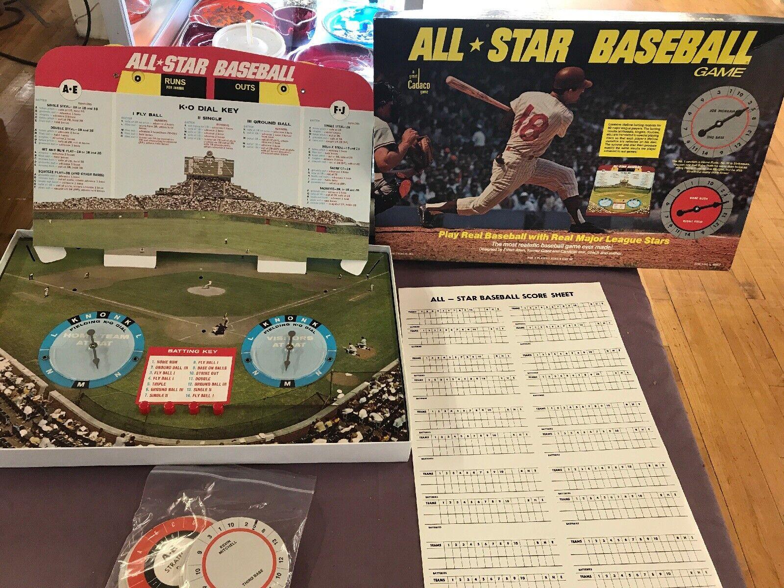 1969 Cadaco All Star Baseboll Game.Fullt.med komplett Roster- diskuppsättning L1