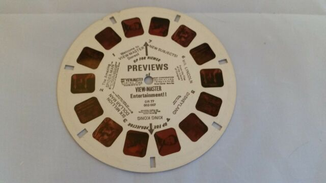 Vintage View Master Reel PREVIEWS Entertainment. Excellent! Take A Look!