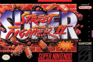 Rgc Huge Poster Super Street Fighter Ii Super Nintendo Snes Box
