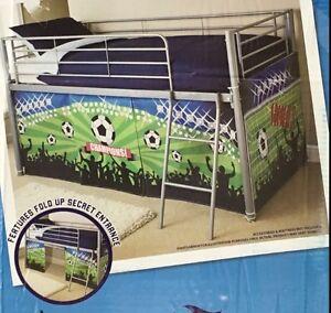 Mid Sleeper Bed Tent Bunk Boys Kids